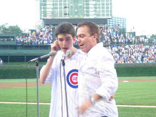 David lead the crowd in singing quot take me out to the ballgame quot during